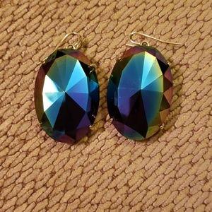 Kendra Scott Black Iridescent Mary Earrings